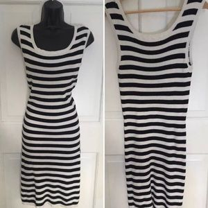 GANT Striped sporty ribbed casual cotton dress L